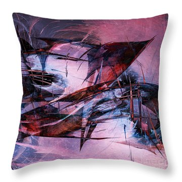 Wounded Sharks Throw Pillow by Klara Acel