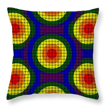 Throw Pillow featuring the digital art Woven Circles by Bartz Johnson