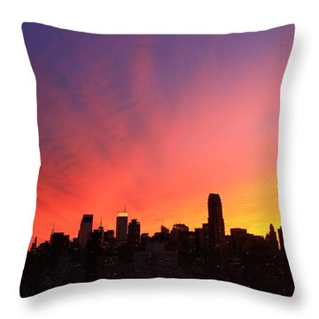 Wow Throw Pillow by Catie Canetti
