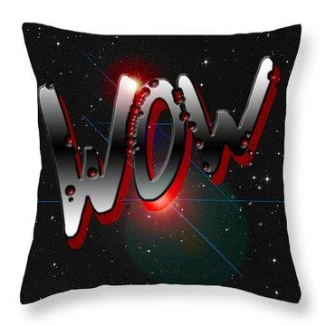 WOW Throw Pillow