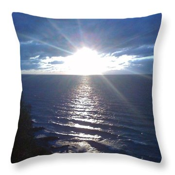 #wow #ocean #beautiful #instagramers Throw Pillow by Jenya Elkin