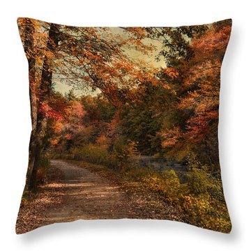Wrapped In Autumn Throw Pillow