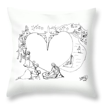 Wrapped In The Arms Of His Love Throw Pillow by Dawna Morton