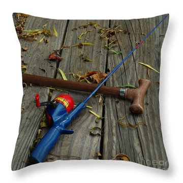Wrapped In Time Throw Pillow by Peter Piatt