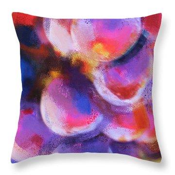Wrath Of Grapes Throw Pillow