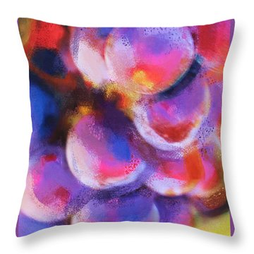 Wrath Of Grapes Throw Pillow