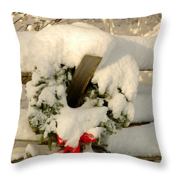 Throw Pillow featuring the photograph Wreath  by Alana Ranney