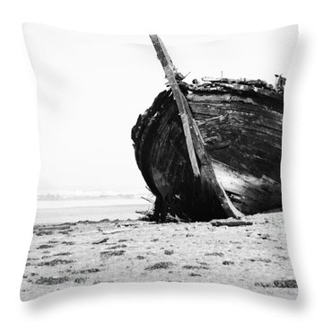 Wreckage On The Bay Throw Pillow by Marco Oliveira