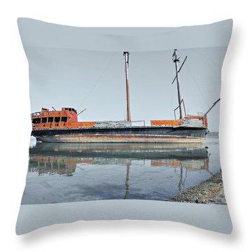 Wreck Reflection Throw Pillow