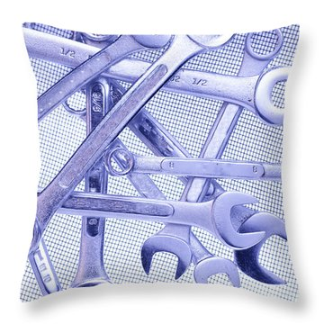 Wrenches Throw Pillow