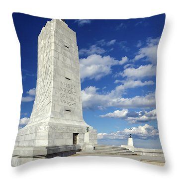 Wright Brothers Memorial D Throw Pillow by Greg Reed