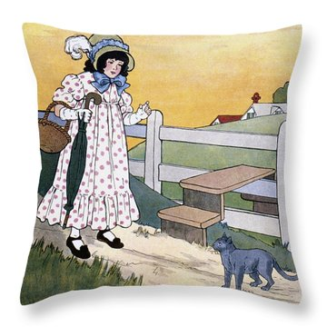 Wright: Pussy Cat Throw Pillow by Granger