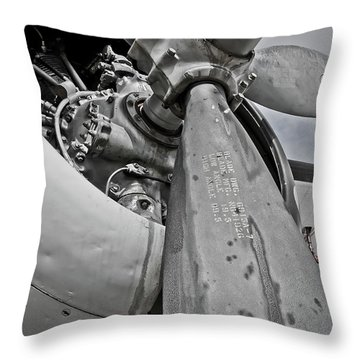 Wright R-1820-82 Cyclone Throw Pillow by Charles Dobbs