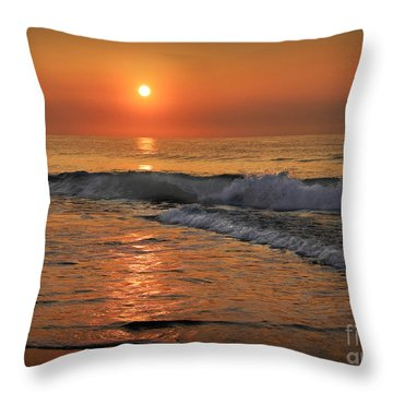 Throw Pillow featuring the photograph Wrightsville  Beach Sunrise by Phil Mancuso