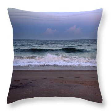 Wrightsville Sunset Waves Throw Pillow