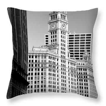 Wrigley Building - A Chicago Original Throw Pillow by Christine Till