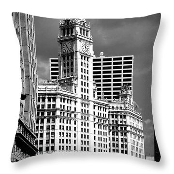 Wrigley Building Chicago Illinois Throw Pillow by Christine Till