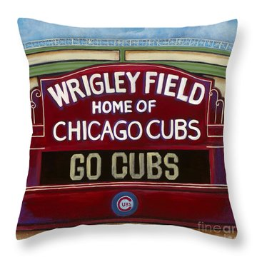 Wrigley Field Throw Pillow by Carla Bank
