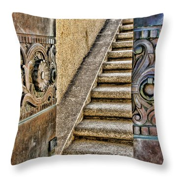 Wrigley's Bronze Doors By Diana Sainz Throw Pillow