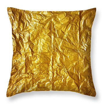 Wrinkled Paper Throw Pillow by Carlos Caetano