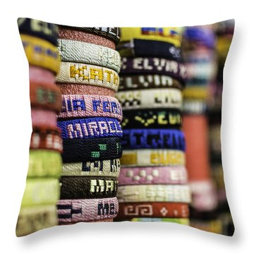 Wrist Band Rainbow Throw Pillow
