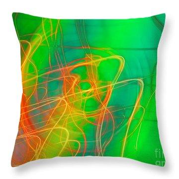 Write Light Rainbow Throw Pillow