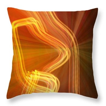 Throw Pillow featuring the photograph Write Light Shapes by Luc Van de Steeg