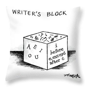 Writer's Block Throw Pillow