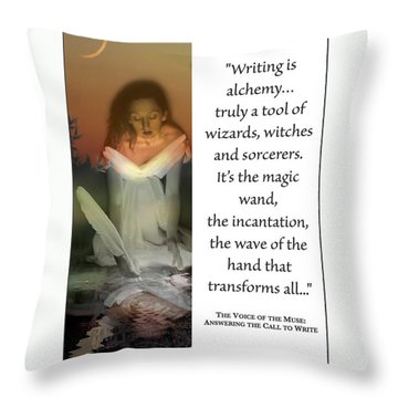 Writing Is Alchemy Throw Pillow