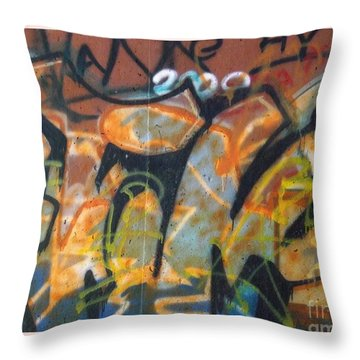 Writing On The Wall 1 Throw Pillow by Sara  Raber