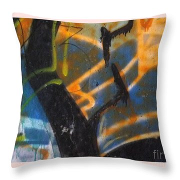 Writing On The Wall 2 Throw Pillow by Sara  Raber