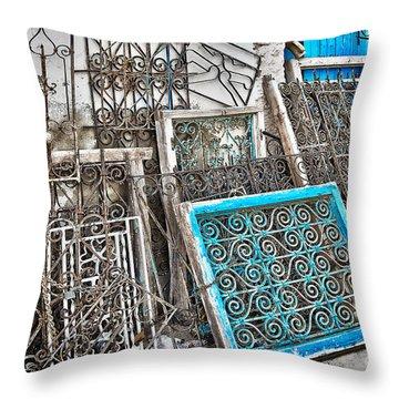 Wrought Iron 2 Throw Pillow