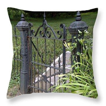 Wrought Iron Gate Throw Pillow