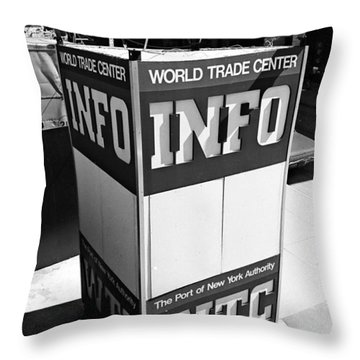 Wtc Info Sign Throw Pillow