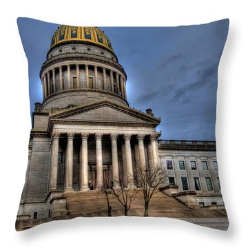 Wv Capital Building 2 Throw Pillow by Jonny D