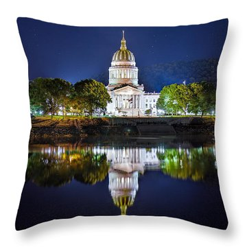 Wv Capitol Throw Pillow
