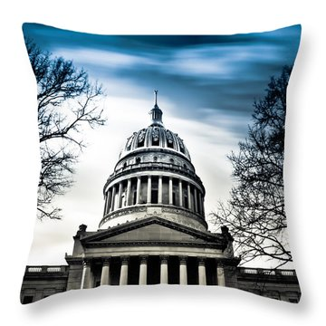 Wv State Capitol Building Throw Pillow by Shane Holsclaw