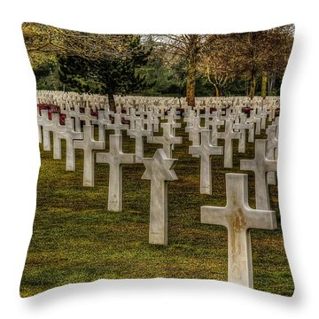 Ww II War Memorial Cemetery Throw Pillow by Elf Evans