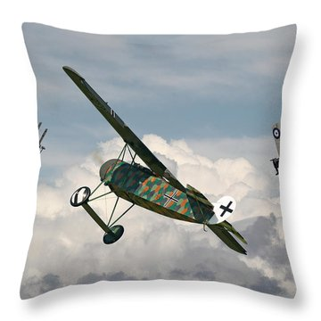 Ww1 - Spoiled For Choice Throw Pillow by Pat Speirs