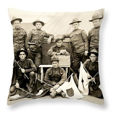 Wwi Us Army Signal Corps Throw Pillow