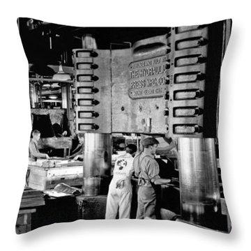 Wwii Aircraft Factory Throw Pillow