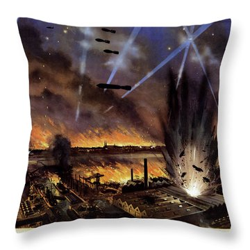 Wwii Bombers, C1942 Throw Pillow