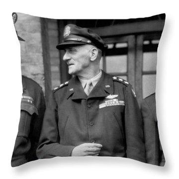 Wwii Generals Meet In England Throw Pillow