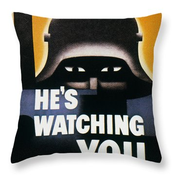 Wwii: Propaganda Poster Throw Pillow by Granger