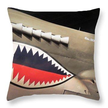 Wwii Shark Throw Pillow