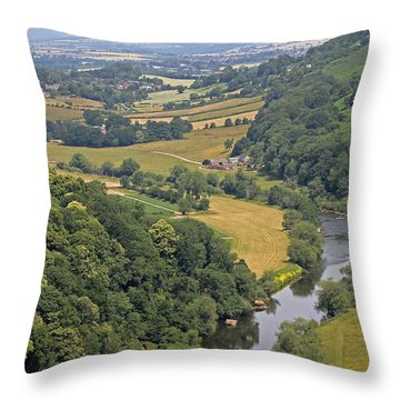 Wye Valley Throw Pillow