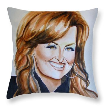 Wynonna Judd Throw Pillow by Brian Degnon