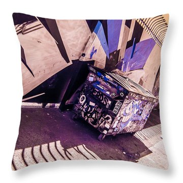 Wynwood Trash Throw Pillow