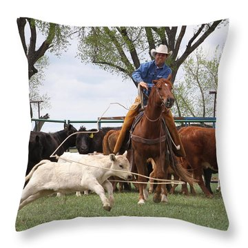 Wyoming Branding Throw Pillow