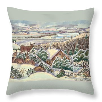 Wyoming Christmas Throw Pillow